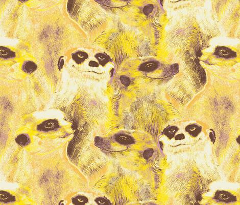 Yellow Meerkats fabric by susiprint on Spoonflower - custom fabric