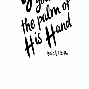 God has you in the palm of His hand Crib Sheet Baby Bedding