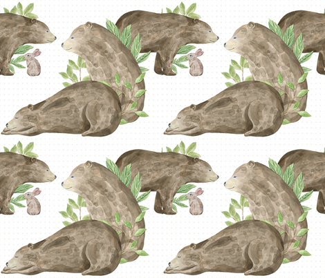 Bear Country fabric by jilbert on Spoonflower - custom fabric