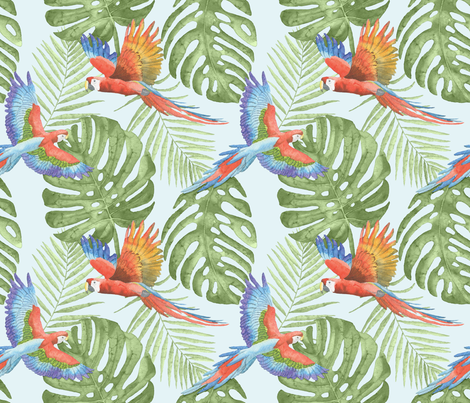 Pretty Bird fabric by jilbert on Spoonflower - custom fabric