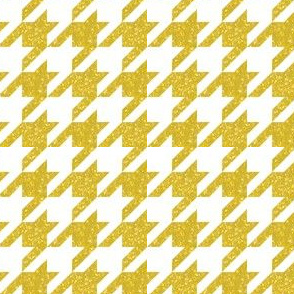 The Houndstooth Check ~ Bright Gilt Patina