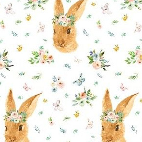"4"" Spring Time Bunny - More Florals"