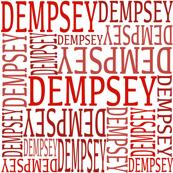 custom name fabric - dempsey