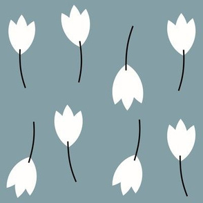 Tulips - dusty blue flowers winter florals || by sunny afternoon