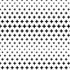 halftone crosses black