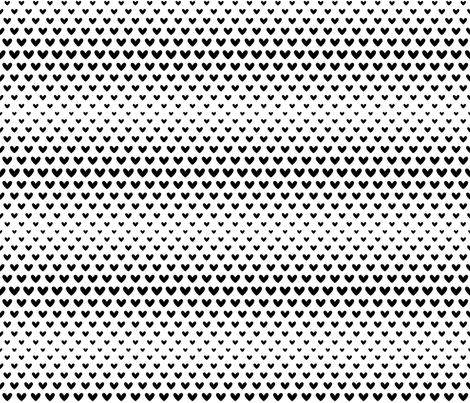 halftone hearts black fabric by misstiina on Spoonflower - custom fabric