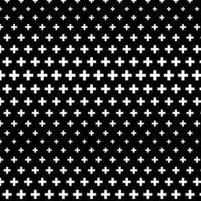 halftone crosses black reversed