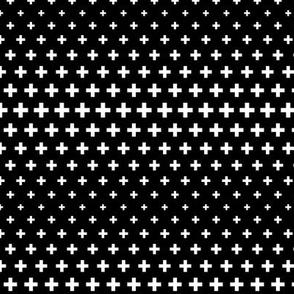 halftone crosses black reversed
