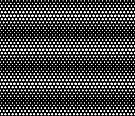 halftone dots black reversed fabric by misstiina on Spoonflower - custom fabric
