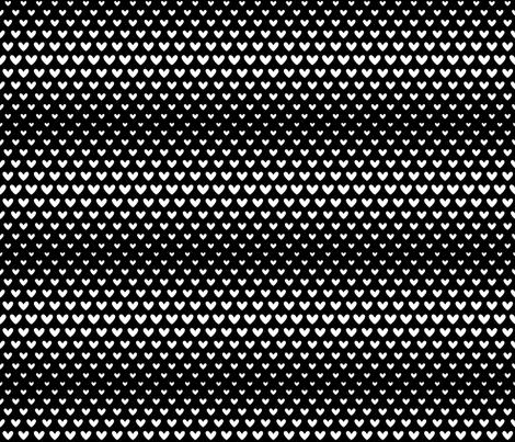 halftone hearts black reversed fabric by misstiina on Spoonflower - custom fabric