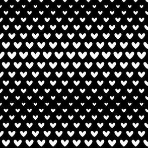 halftone hearts black reversed