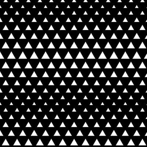 halftone triangles black reversed