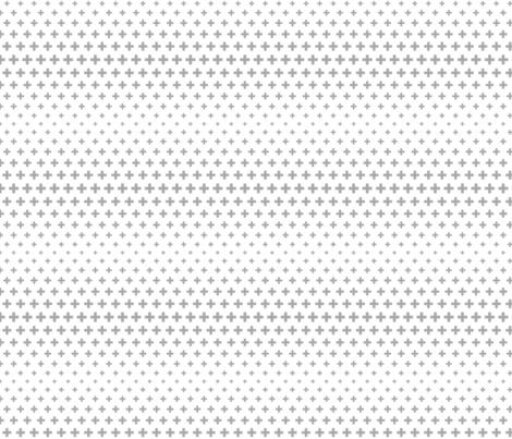 halftone crosses grey fabric by misstiina on Spoonflower - custom fabric