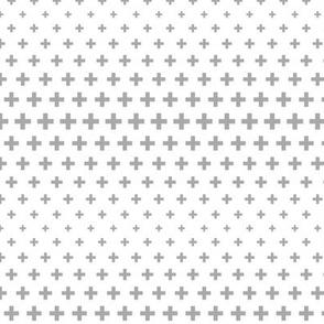 halftone crosses grey