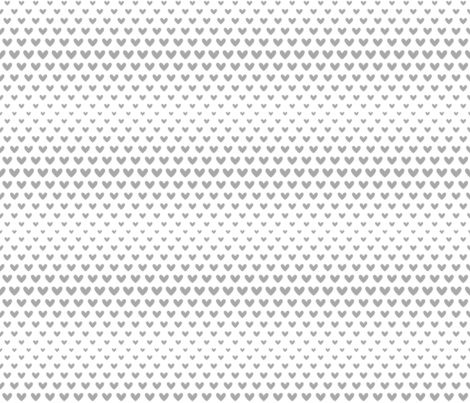 halftone hearts grey fabric by misstiina on Spoonflower - custom fabric
