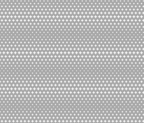 halftone crosses grey reversed fabric by misstiina on Spoonflower - custom fabric
