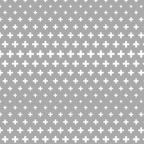 halftone crosses grey reversed