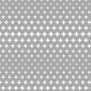 halftone crosses grey reversed