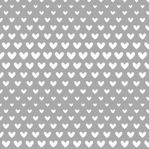 halftone hearts grey reversed