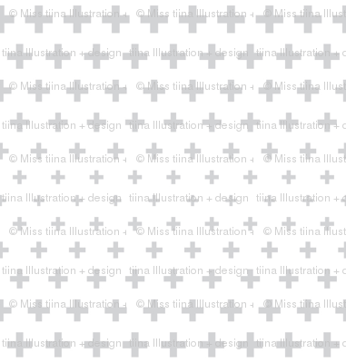 halftone crosses light grey
