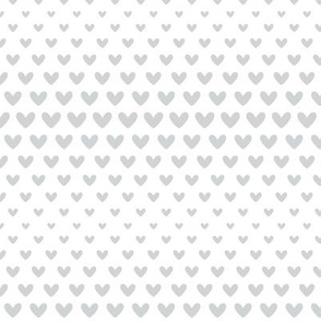 halftone hearts light grey