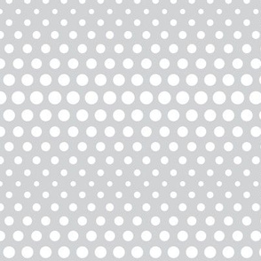 halftone dots light grey reversed