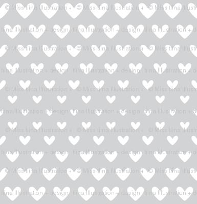 halftone hearts light grey reversed