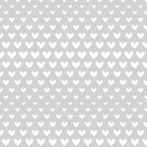 halftone hearts light grey reversed