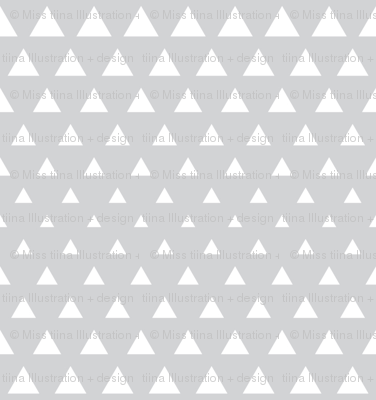 halftone triangles light grey reversed