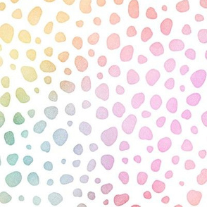 Pastel Rainbow Watercolor Cheetah Pattern