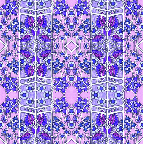 Pink and Purple Paisley Stripes fabric by edsel2084 on Spoonflower - custom fabric