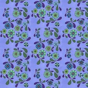 Calm blue flowers