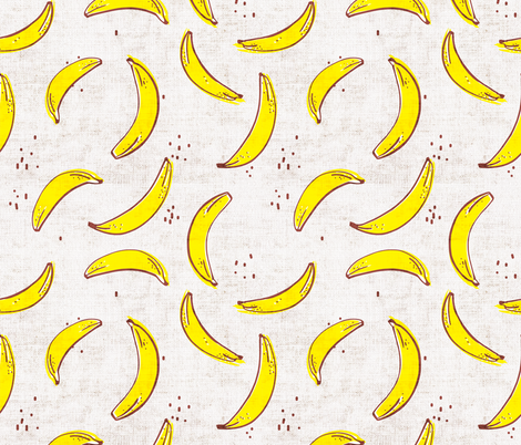 FRENCH_LINEN_BANANA fabric by holli_zollinger on Spoonflower - custom fabric