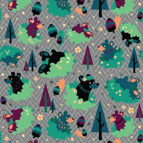 Bears In Bushes