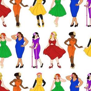Rainbow Pinup Girls
