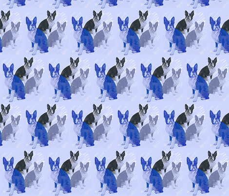 boston_terrier_stencils fabric by dogdaze_ on Spoonflower - custom fabric