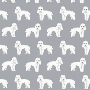 Toy Poodle dog pattern dog fabric  grey