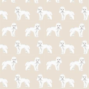 Toy Poodle dog pattern dog fabric  sand