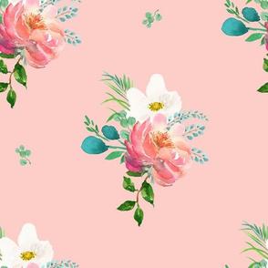 "10.5"" Flamingo Park Florals - Dark Pink"