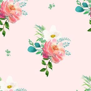 "10.5"" Flamingo Park Florals - Light Pink"