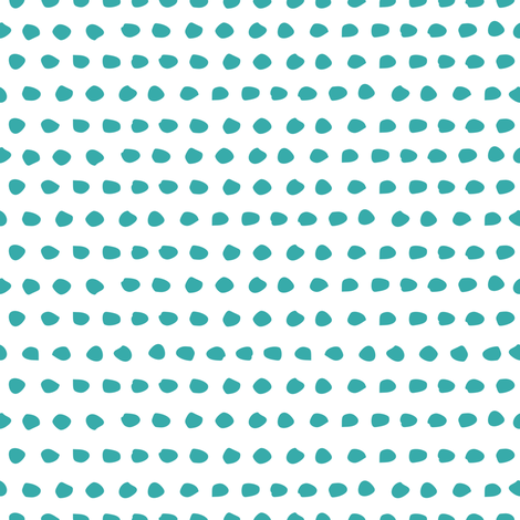 "8"" Dark Aqua Dots / White Background fabric by shopcabin on Spoonflower - custom fabric"