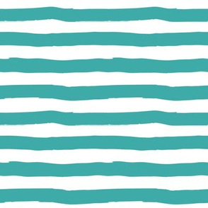 Flamingo Floral Park Aqua Stripes