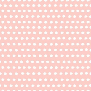 "8"" White Polka Dots / Dark Pink Background"