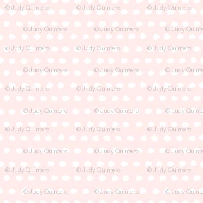 "8"" White Polka Dots / Light Pink Background"