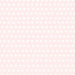"8"" White Polka Dots / Light Pink Background"