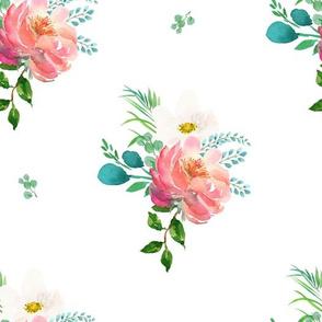 """10.5"""" Flamingo Park Florals - WHITE"""
