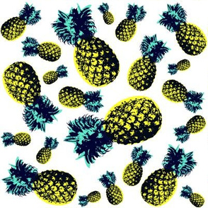 Pineapples / White Background