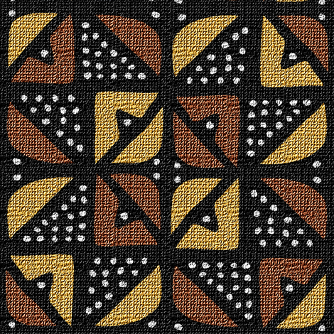 Mudcloth Inspired 8 Pointed Star fabric by eclectic_house on Spoonflower - custom fabric