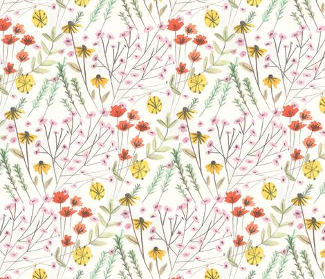 Wildflowers fabric by jessbruggink on Spoonflower - custom fabric