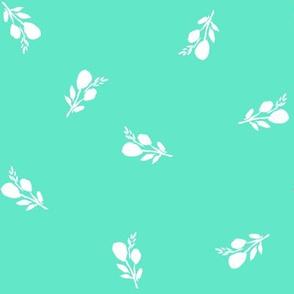 """8"""" Bright Aqua with White Branches"""